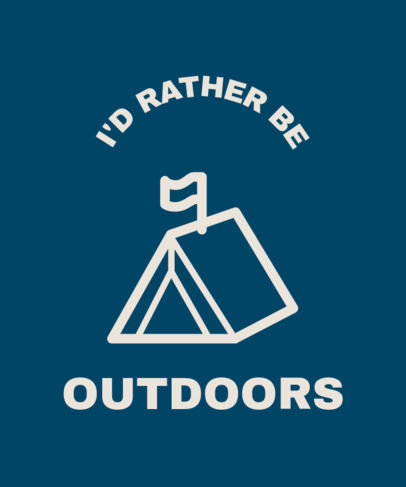 Outdoor Activities T-Shirt Design Maker Featuring a Camping Tent Graphic 25a-el