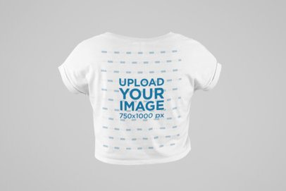 Ghosted Mockup of a Crop Top T-Shirt Seen from the Back 29505
