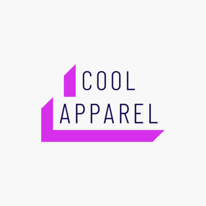Clothing Brand Logo Maker Featuring a 3D Text Banner Style 2722g