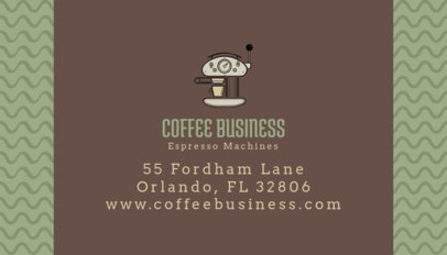 Business Card Template for a Coffee-Related Company 186f-158-el