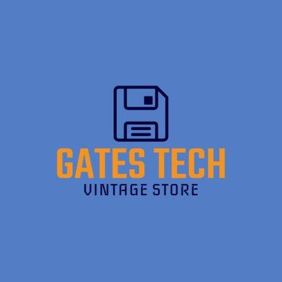 Online Logo Template for Retro Technology Stores 1252j 146-el