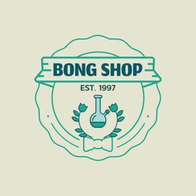 Online Logo Maker for a Bong Shop 161c-el