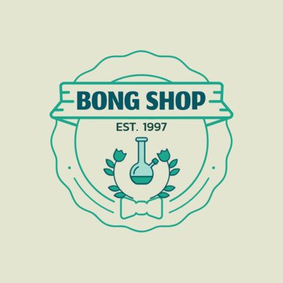 Online Logo Maker for a Bong Shop 161c-el1