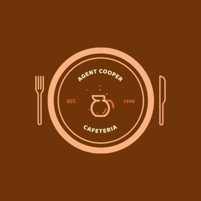 Logo Template for a Vintage Cafeteria 950i 254-el