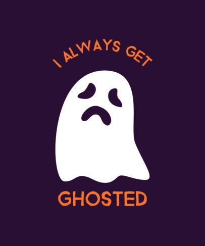 T-Shirt Design Maker for Halloween Featuring a Ghost Graphic 5b-el