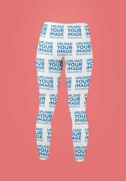 Mockup of Ghosted Leggings in a Minimalistic Setting 29508