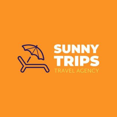 Minimalist Logo Maker for a Travel Agency 1148i 221-el