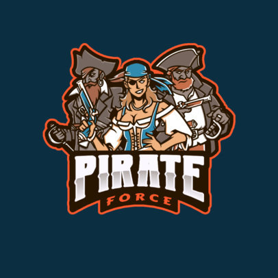 Gaming Logo Template Featuring a Group of Pirates 2719a