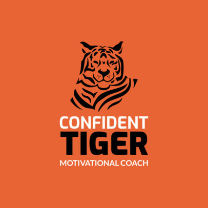 Motivational Coaching Logo Maker Featuring a Tiger Graphic 2551k 2659