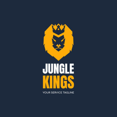 Logo Template for a Startup Featuring a Lion with a Crown 1144m 2659