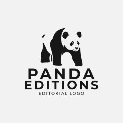Logo Maker for a Book Publishing Company with a Panda Graphic 1265j 2659
