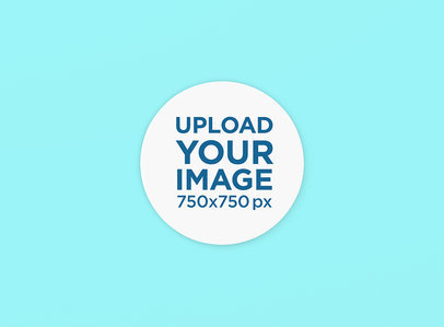 Round Coaster Mockup with a Plain Background 1207-el