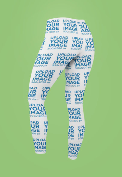 Ghosted Mockup of Sublimated Leggings Viewed from the Back 29512