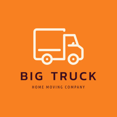 Moving Company Logo Maker with a Truck Icon