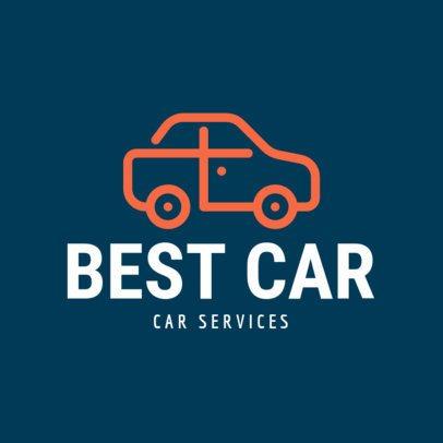 Automotive Logo Maker with a Minimalistic Car Illustration 1189i-141-el