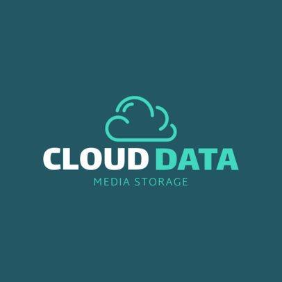 Tech Company Logo Maker with a Cloud Icon 1140j-152-el