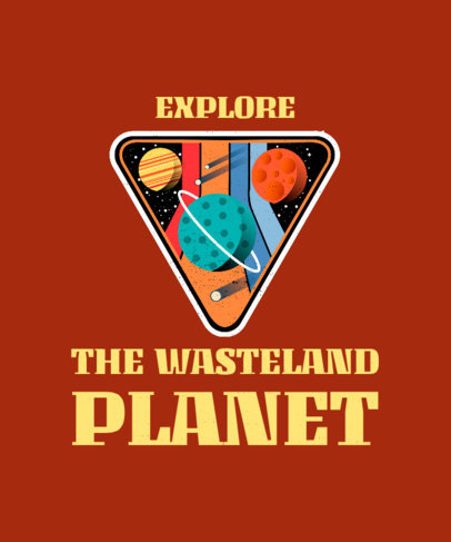 T-Shirt Design Maker with Planet Graphics Featuring a Retro Style 1916e
