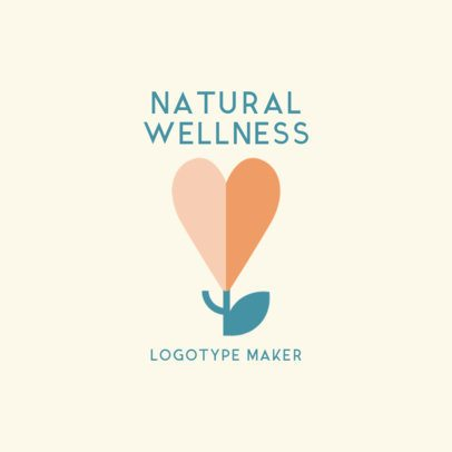 Logo Template for a Wellness Center Featuring a Heart-Shaped Flower Graphic 2578i 2697