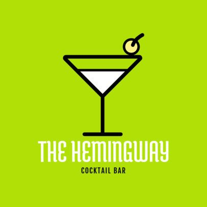 Logo Maker for a Cocktail Bar with a Martini Graphic 1815f 218-el