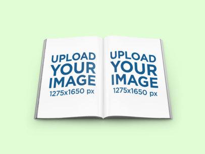 Mockup of a Magazine Open By Half 1108-el