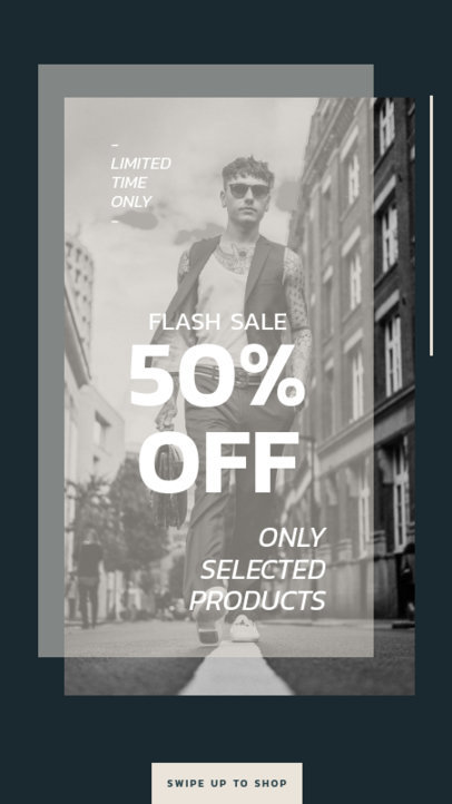 Minimalist Instagram Story Template for a Flash Sale 40a-el