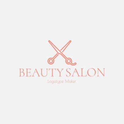 Online Logo Template for a Hair Salon 1137g 157-el