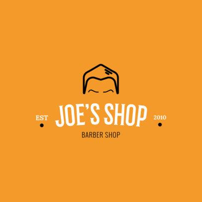 Online Logo Generator for a Modern Barber Shop 1119h 157-el
