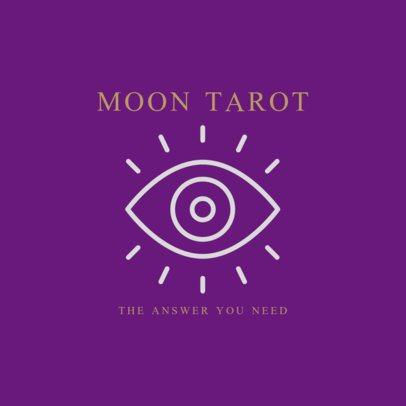 Tarot Logo Template Featuring an Eye Clipart 2662k-216-el