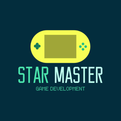 Gaming Logo Maker with a Portable Console Illustration 1289k-137-el