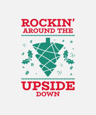 T-Shirt Design Template with Fun Christmas Puns 52-el