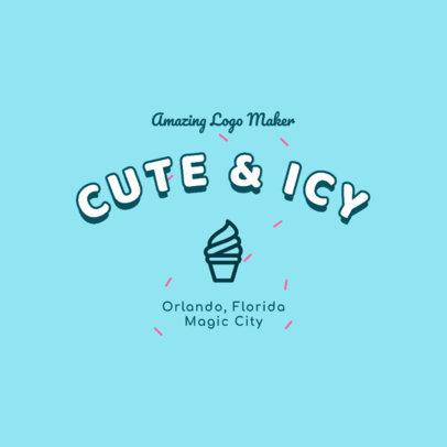 Fun Logo Maker with an Ice-Cream Cone Icon 2736h