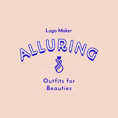 Logo Maker for a Kids Apparel Brand with Bold Typeface 2736e