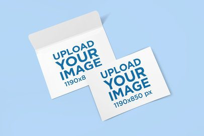 Mockup of a Horizontal Postcard and an Envelope 1124-el