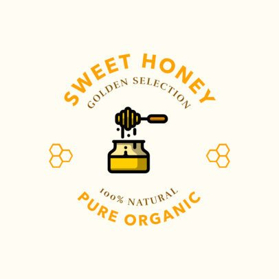 Logo Design Template for an Organic Honey Store 1287l-208-el