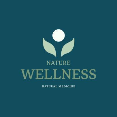 Alternative Medicine Logo Design Template for a Wellness Center 1294f-213-el