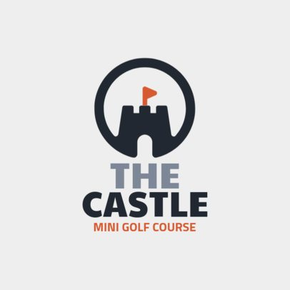 Mini Golf Logo Maker with a Castle Clipart 1558g-214-el