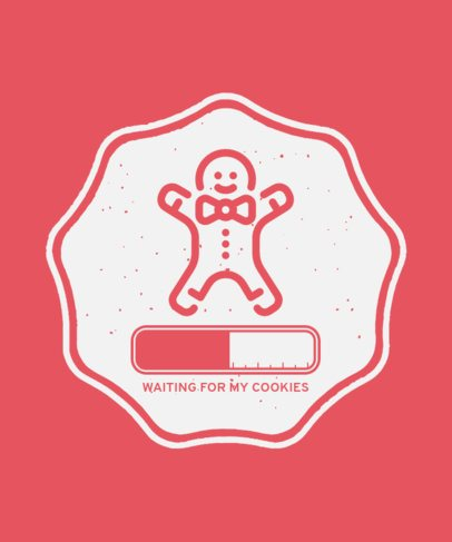 Christmas T-Shirt Design Generator with a Gingerbread Man Icon 48b-el