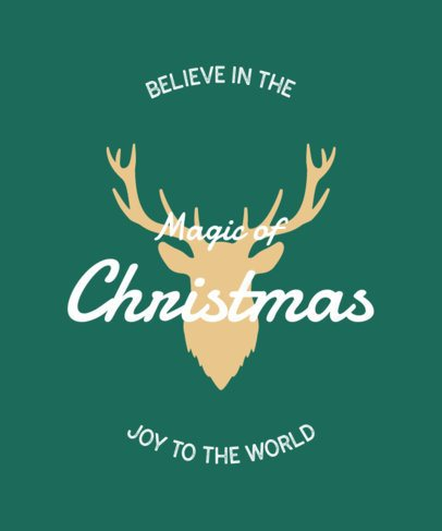 T-Shirt Design Maker Featuring Simple Christmas-Themed Graphics 47-el