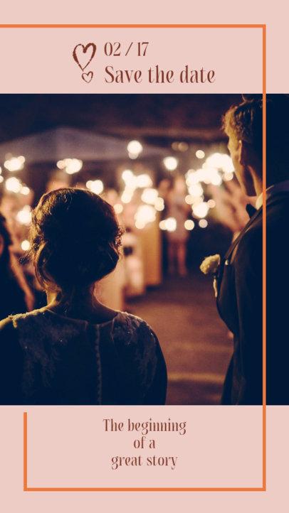 Romantic Instagram Story Maker for a Wedding Invitation 2006e
