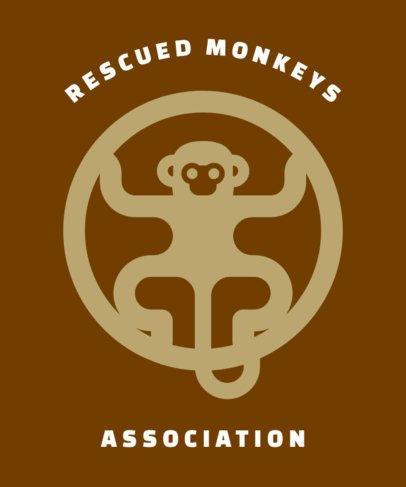 T-Shirt Design Template for an Animal Welfare Association 1562l 224-el