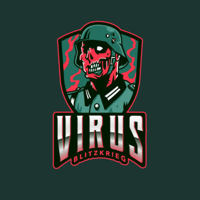Gaming Logo Maker with COD-Inspired Zombie Illustrations 2734c