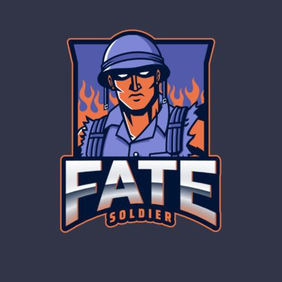 Gaming Logo Maker with COD-Inspired Soldier Characters 2734e