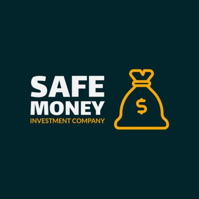 Logo Maker for an Investment Company Featuring a Money Bag 1141m 209-el