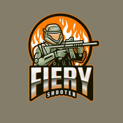 Call of Duty-Inspired Logo Maker with a Soldier in a Fire Suit 2734i