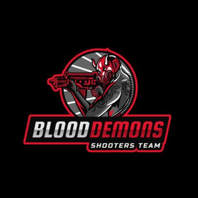 Gaming Logo Maker Featuring a Masked Shooter Character 2754