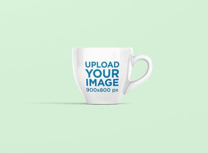 Mockup of an Espresso Cup with a Colored Background 1450-el