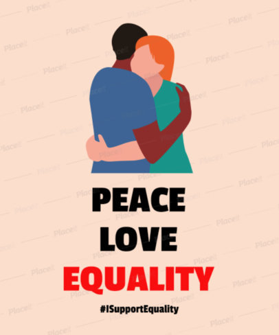 T-Shirt Design Maker with Equality Graphics 2022
