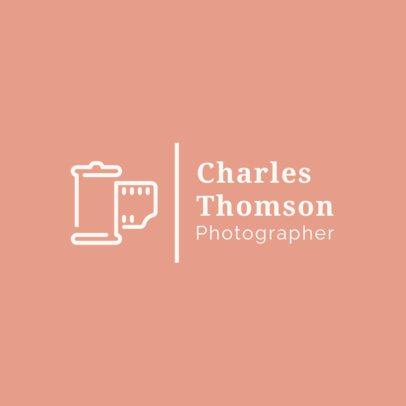 Modern Logo Creator for a Photographer 1498g 263-el