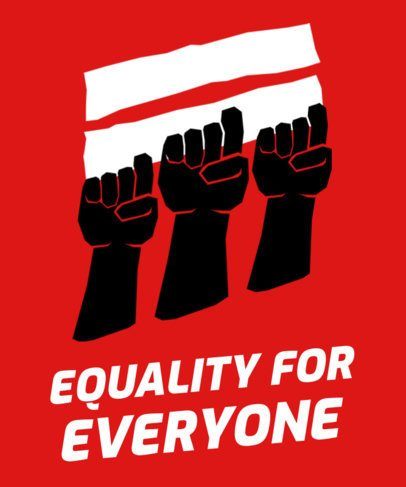 T-Shirt Design Template with Equal-Rights Movement Graphics 2040
