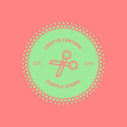 Logo Design Maker for a Craft Supply Store 1309f-215-el